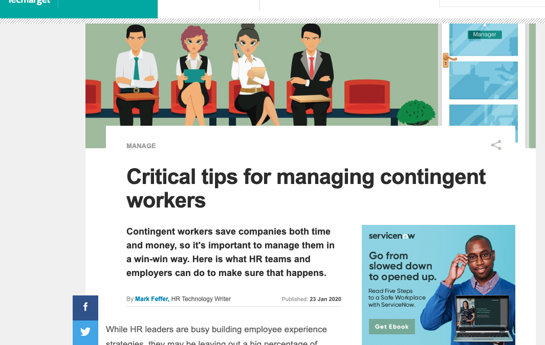 Aaron Colby Quoted in TechTarget about Independent Contractors