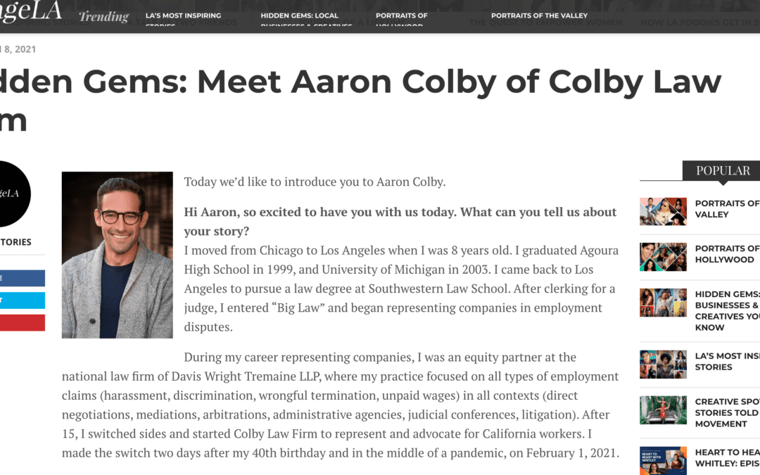 Colby Law Firm Featured in VoyageLA